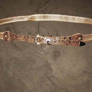 Gold and brown thin belt!!!